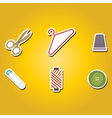 color icons with sewing symbols vector image