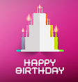 Happy Birthday Retro with Paper Cake and Can vector image