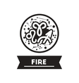 flat icon in black and white style zodiacal vector image