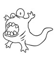 cartoon angry tadpole vector image