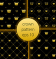 crown collection gold big set icons vector image