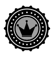 crown emblem icon image vector image