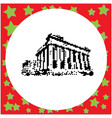parthenon on the acropolis in athens greece black vector image