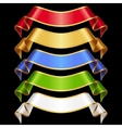 Ribbons set 11 varicolored banners vector image