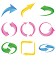Set of colorful arrows vector image
