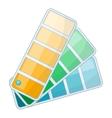 Color swatch icon cartoon style vector image