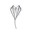Drawing symbol aof man elegant suit vector image