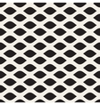 Seamless Black and White Leaf Shape Pattern vector image