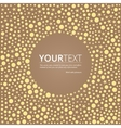 Abstract background with shapes of circles and vector image