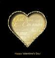 Abstract golden heart vector image vector image