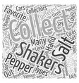 salt and pepper shakers Word Cloud Concept vector image