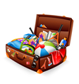 vacation suitcase vector image vector image