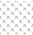 Glasses of champagne pattern seamless vector image