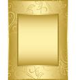 golden frame with floral background vector image vector image