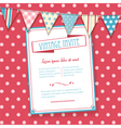 invite and bunting background vector image vector image