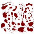 set of blood drops vector image