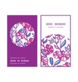 vibrant field flowers vertical round frame pattern vector image