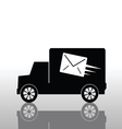 truck with a letter envelope vector image vector image