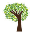 hand and tree vector image vector image