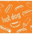 Hot Dog Seamless Pattern vector image