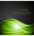 Bright green and black background vector image