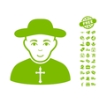 Christian Priest Icon With Free Bonus vector image