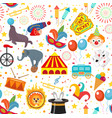 circus seamless pattern holiday carnival endless vector image