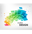 Colorful design element on white background vector image