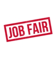 Job Fair rubber stamp vector image