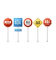 Not Found Error Concept Roadsign Set vector image