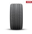 Realistic rubber tire symbol vector image