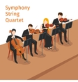 Symphonic orchestra string quartet vector image