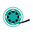 film reel cinema movie design vector image