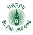 beer retro icon st patricks day celebration vector image