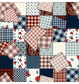 patchwork country squared vector image