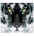 Geometric polygon white tiger head triangle vector image vector image