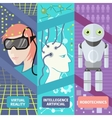 Artificial intelligence reality virtual and vector image
