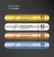 Rounded Banner gold bronze silver blue color gradi vector image