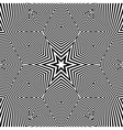 Black and White Geometric Pattern Abstract vector image vector image