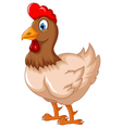 hen cartoon for your design vector image