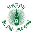 beer retro icon st patricks day celebration vector image