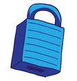blue lock vector image
