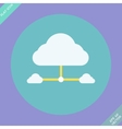 Cloud network connection - vector image