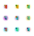 Kind of files icons set pop-art style vector image
