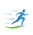 Man running fast Abstract concept of fast activit vector image