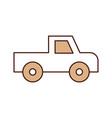 safari van of plato isolated icon vector image