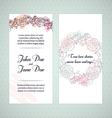 Floral invitation cards vector image