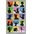 Profession Avatar Silhouettes vector image vector image