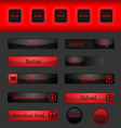 Set of button for web vector image