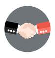 Two Businessmen Partnership Flat Circle Icon vector image